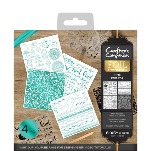 Crafter's Companion Foil Transfers - Time for Tea