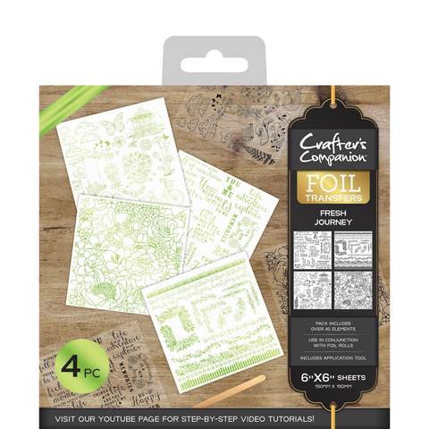 Crafter's Companion Foil Transfers - Fresh Journey