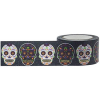 Little B - Sugar Skulls Foil Decorative Tape, 25mmx10m