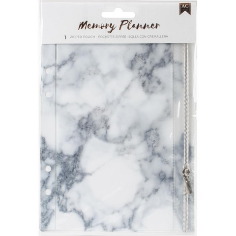 American Crafts - Memory Planner Zipper Pouch Insert, Marble Crush
