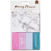 American Crafts - Memory Planner Sticky Note Pack, Marble Crush