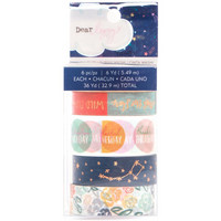 Dear Lizzy - Star Gazer Washi Tape, Copper Foil Accents