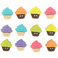 Dress It Up - Sew Cute Cupcakes, Koristenappisetti
