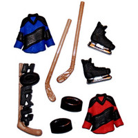 Dress It Up - Hockey, Koristenappisetti