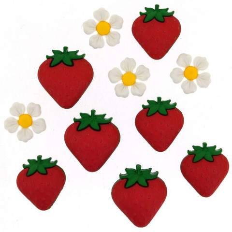 Dress It Up - Fresh Strawberries, Koristenappisetti