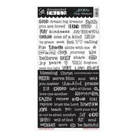 Documented Faith - Clear Stickers, Word Strip