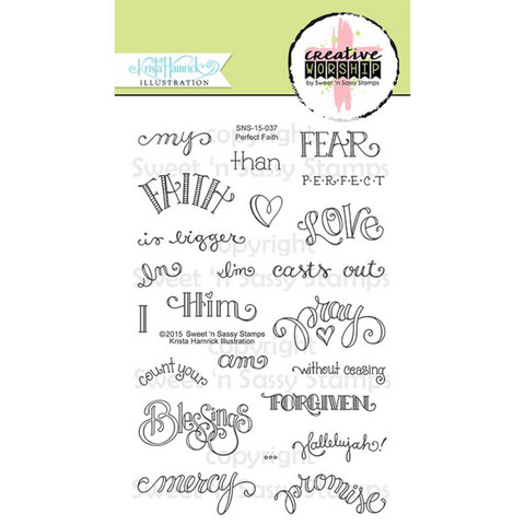 Sweet 'n Sassy Creative Worship - Clear Stamps, Perfect Faith