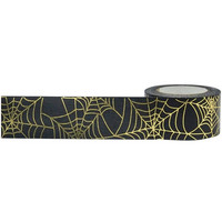 Little B - Spider Web Gold Foil Decorative Tape, 25mmx10m