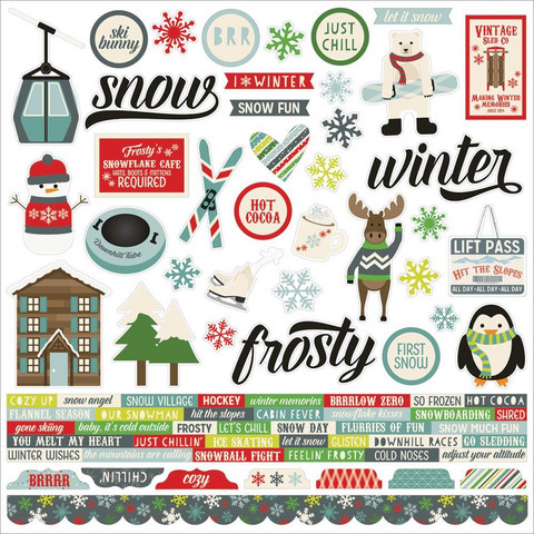 Simple Stories - Sub Zero Cardstock Stickers 12