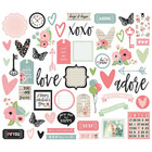 Simple Stories - Romance Bits & Pieces Die-Cuts, 54 kpl