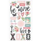 Simple Stories - Carpe Diem Romance Chipboard Stickers 6