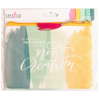 Creative Devotion - Oil Cloth Zippered Pencil Pouch, New Creation Watercolors