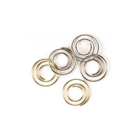 Klemmari - Mini Metal Spiral Clips, Gold & Silver, 13 mm, 25 kpl