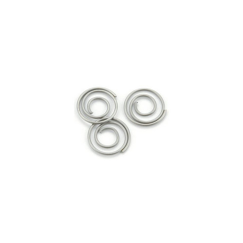 Klemmari - Mini Metal Spiral Clips, Pewter, 13 mm, 25 kpl
