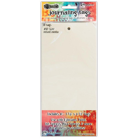 Dyan Reaveley's Dylusions - Journal Tags, 10#, Mixed Media, 10 kpl