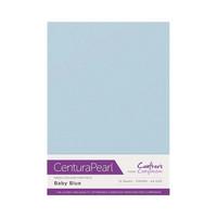 Crafter`s Companion - Helmiäiskartonki, Baby Blue, A4, 10 arkkia