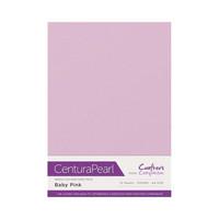Crafter`s Companion - Helmiäiskartonki, Baby Pink, A4, 10 arkkia