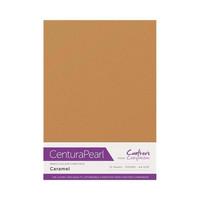 Crafter`s Companion - Helmiäiskartonki, Caramel, A4, 10 arkkia