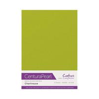 Crafter`s Companion - Helmiäiskartonki, Chartreuse, A4, 10 arkkia