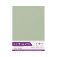 Crafter`s Companion - Helmiäiskartonki, Mint Green, A4, 10 arkkia