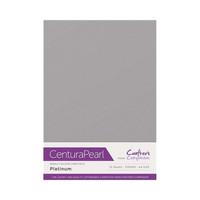 Crafter`s Companion - Helmiäiskartonki, Platinum, A4, 10 arkkia