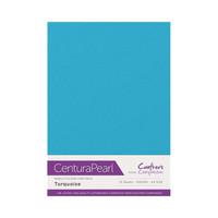 Crafter`s Companion - Helmiäiskartonki, Turquoise, A4, 10 arkkia