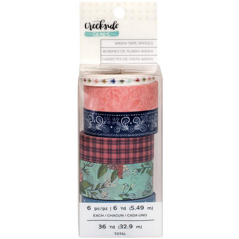 American Crafts - One Canoe Two Creekside Washi Tape, 6 rullaa