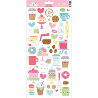 Doodlebug - Cream & Sugar Cardstock Stickers