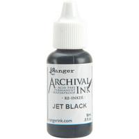 Ranger - Archival Ink leimamustetäyttöpullo, Jet Black