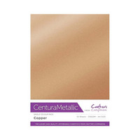 Crafter`s Companion - Metallivärikartonki, Copper, A4, 10 arkkia