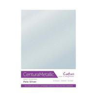 Crafter`s Companion - Metallivärikartonki, Pale Silver, A4, 10 arkkia