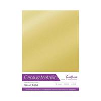 Crafter`s Companion - Metallivärikartonki, Solar Gold, A4, 10 arkkia