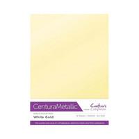 Crafter`s Companion - Metallivärikartonki, White Gold, A4, 10 arkkia