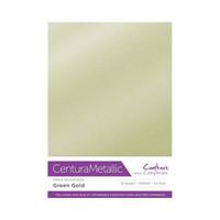 Crafter`s Companion - Metallivärikartonki, Green Gold, A4, 10 arkkia