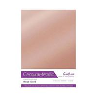 Crafter`s Companion - Metallivärikartonki, Rose Gold, A4, 10 arkkia