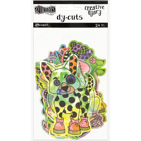 Dyan Reaveley's - Colored Animals, Dylusions Creative Dyary Die Cuts