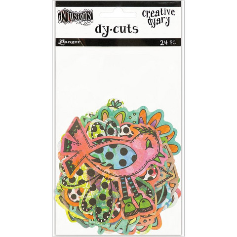 Dyan Reaveley's - Colored Birds & Flowers, Dylusions Creative Dyary Die Cuts