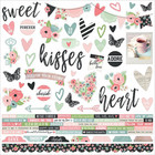 Simple Stories - Romance Combo Sticker, 12''x12'', tarra-arkki