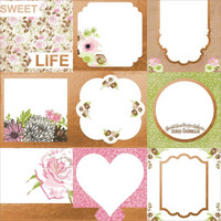 BoBunny - Sweet Moments Foiled Vellum, 12