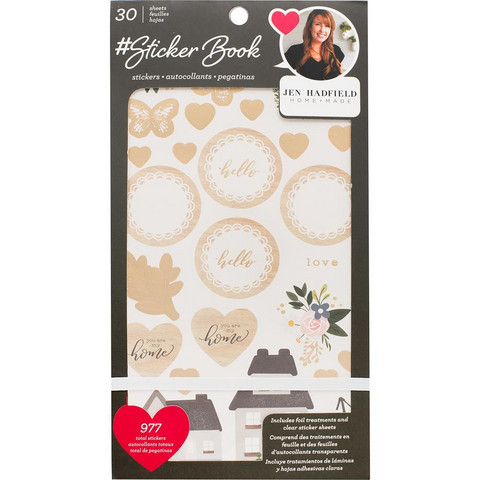 American Crafts - Jen Hadfield Sticker Book, tarrasetti
