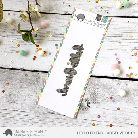 Mama Elephant - Creative Cuts, Hello Friend Script, Stanssi