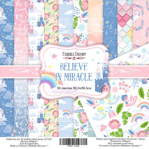 Paperikko, Believe in miracle, 12