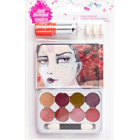 Jane Davenport - Mixed Media Cream Pastels Tin, Lip Gloss