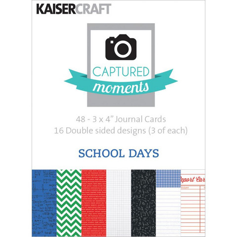 Kaisercraft - Captured Moments Double-Sided Cards, School Days, 3