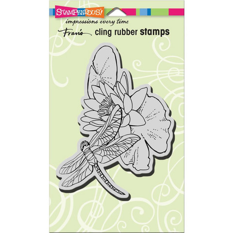 Stampendous - Leima, Dragonfly Lily