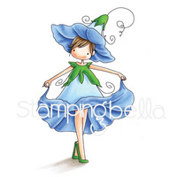 Stamping Bella - Garden Girl Morning Glory, Leima