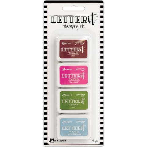 Ranger - Letter It Stamping Ink Set #2, Leimamustetyynysetti
