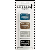 Ranger - Letter It Stamping Ink Set #1, Leimamustetyynysetti