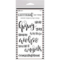 Ranger - Letter It Clear Stamp Set, Celebration, Leimasetti