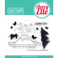 Avery Elle - Clear Stamp Set, Lava You, Leimasetti